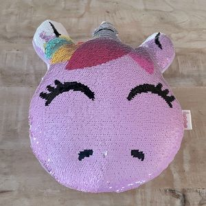 IsCream Unicorn Sequin Reversible Pillow